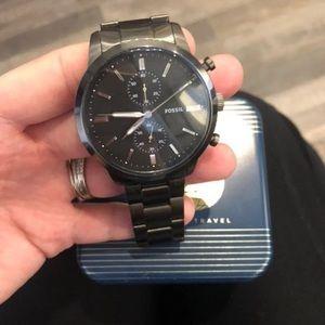 Men's gunmetal Fossil Watch
